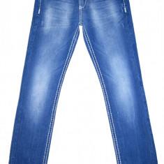 CIPO & BAXX - (MARIME: 30 x 32) - Talie = 80 CM, Lungime = 108, 5 CM - Blugi dama, Culoare: Albastru, Slim Fit, Normal, Joasa