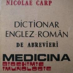 Dictionar Englez Roman de abrevieri - Medicina - Biochimie - Imunologie - L Carp