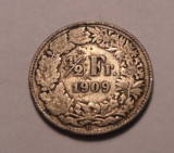 Elvetia 1/2 Franc 1909, Europa