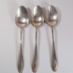 Set 3 lingurite de argint masiv art deco