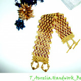 "♥ Handmade –Bratara din margele ""Afro - Chic"" ♥"