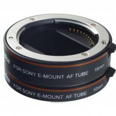 Commlite CM-ME-AFSM II tuburi macro cu montura aluminiu TTL pentru Sony E-Mount - Inel adaptor obiectiv foto