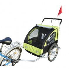 Remorca de bicicleta cu suspensie marca Samax - verde - Remorca bicicleta