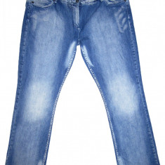 (BATAL) Blugi OUTFIT FASHION - (MARIME: XXL) - Talie = 115 CM, Lungime = 112 CM - Blugi dama, Culoare: Albastru, Bootcut, Normala