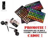 Trusa machiaj profesionala 180 culori Jelly Matte Fraulein38+ CADOU Eyeliner Gel