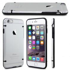 "Husa silicon cu margine bumper BLACK Iphone 6 Plus 5.5"" + folie protectie"