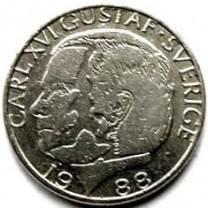 SUEDIA, 1 COROANA 1988, Europa, Crom