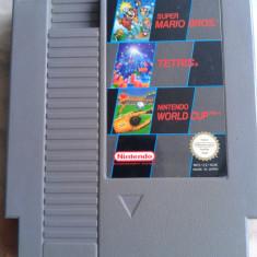 joc rar, consola NINTENDO NES , 3 IN 1 ,TETRIS, MARIO,WORLD CUP ,PAL,1985