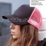 SAPCA, SEPCI TRUCKER cu plasa, Snapback, RETRO, Black/Neon Pink, EXCLUSIV !