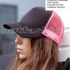 SAPCA, SEPCI TRUCKER cu plasa, Snapback, RETRO, Black/Neon Pink, EXCLUSIV ! - Sapca Dama