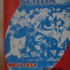Program meci rugbi / Romania - Scotia (20 mai 1984)