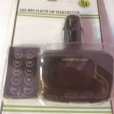 Modulator FM Premium Mp3 cu display si telecomanda 8in1-iesire si cablu aux - Modulator FM auto PilotOn, Modulator FM Stereo