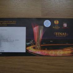 Bilet de meci- Finala Cupei UEFA 2012-Bucuresti / Atletico Madrid-Atletic Bilbao