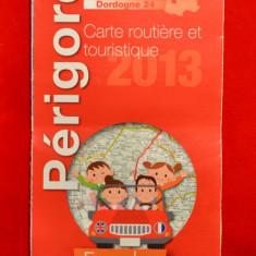 Harta turistica si rutiera Franta Perigord 2013 Dordogne #204