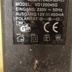 Alimentator Incarcator Sil 12V 450mA Model VD120045G