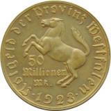 x268 GERMANIA 1923 WESTFALIA 5O MILIOANE MARK TOKEN JETON BRONZ  aUNC
