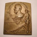 Medalie Regele Carol I Expozitiunea Generala din Romania 1906 ART NOUVEAU - Medalii Romania