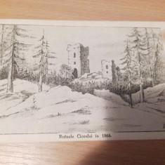 RUINELE CUCEULUI IN 1866 - BISTRITA NASAUD