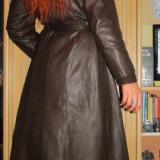 Palton/parpalac piele naturala, impecabil, mar. M - Palton dama, Marime: M, Culoare: Maro