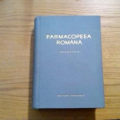 FARMACOPEEA ROMANA  - Editia a VIII -a  -  1965,  945 p.; tiraj: 1500 ex.