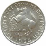X267 GERMANIA 1923 WESTFALIA 5O MILIOANE MARK TOKEN JETON  ALUMINIU  aUNC, Europa