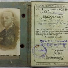 PERMIS CAILE FERATE MAGHIARE 1941 VALABIL PE TERITORIUL ARDEALULUI CEDAT - 1941 - Pasaport/Document