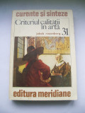 JAKOB ROSENBERG CRITERIUL CALITATII IN ARTA
