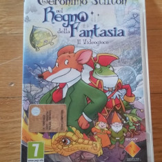 JOC PSP GERONIMO STILTON IN THE KINGDOM OF FANTASY ORIGINAL / by WADDER - Jocuri PSP Sony, Actiune, 3+, Single player