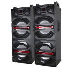 SISTEM 2 BOXE ACTIVE CU MIXER SI MP3 USB INCLUS, 500 WATT, 2 MICROFOANE WIRELESS. - Echipament karaoke