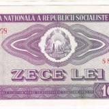 4) Bancnota 10 Lei 1966 VF+/XF - Bancnota romaneasca