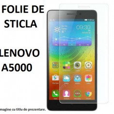 FOLIE de STICLA securizata LENOVO A5000, 0.33mm, 2.5D, 9H tempered glass protectie - Folie de protectie