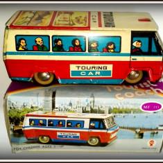 Masinuta Tabla - Touring Car - Autobuz Tourist Coach, anii '80 - Jucarie de colectie