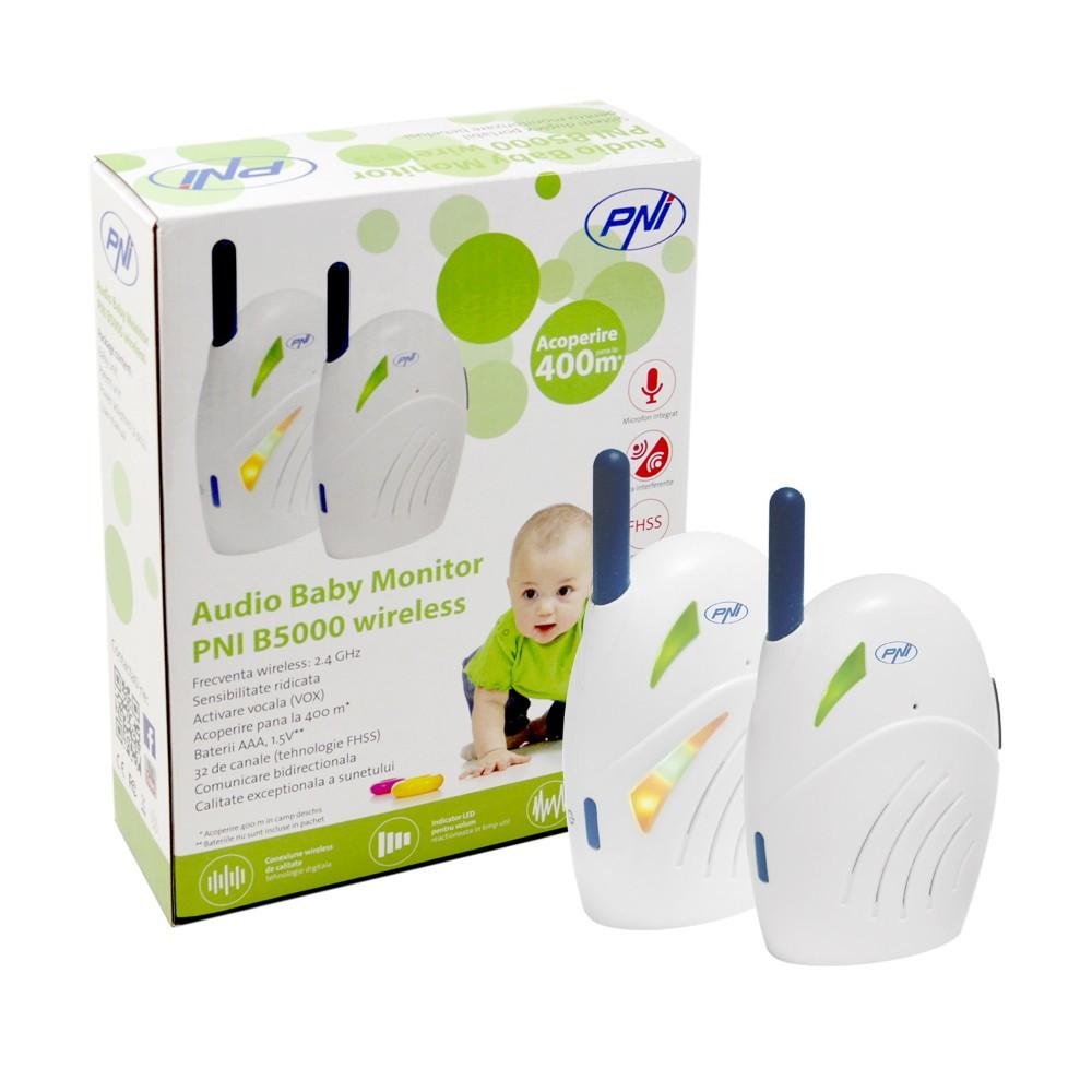 resigilat audio baby monitor pni b5000 wireless si duplex stoc epuizat ok. Black Bedroom Furniture Sets. Home Design Ideas