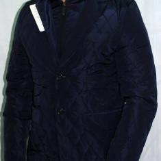 Geaca / Sacou pentru barbati model 2016 casual / elegant - Sacou barbati, Marime: M, XL, Culoare: Bleumarin, 2 nasturi, Normal, Poliester