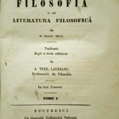 Treboniu Laurian, MANUAL DE FILOSOFIE, Bucuresti, 1847 - Carte Editie princeps