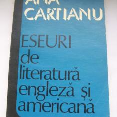 ANA CARTIANU ESEURI DE LITERATURA ENGLEZA SI AMERICANA