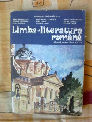 w1 LIMBA SI LITERATURA ROMANA Manual pentru clasa a XI-a - Maria Pavnotescu foto