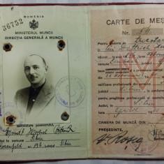 CARTE DE MESTER - PENTRU UN REZIDENT STRAIN STABILIT IN ROMANIA LA SIBIU - 1941, Documente