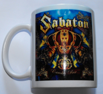 Cana Sabaton,Motorhead,Nirvana,AC/DC,Queen,Slayer,Guns,Rammstein +multe modele foto