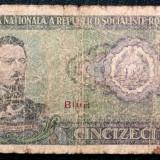 ROMANIA 50 LEI 1966 ** - Bancnota romaneasca