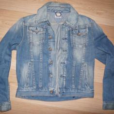 Geaca jeans Hilfiger Denim - originala, masura M - slim fit - Geaca barbati Tommy Hilfiger, Marime: M, Culoare: Albastru