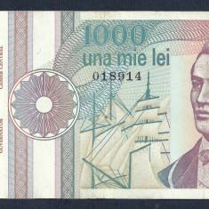 ROMANIA 1000 1.000 LEI 1991 [20] VF++, serie fara punct