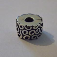 Talisman Pandora clip Serpentine - 634 - Pandantiv argint