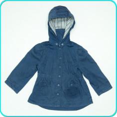 DE FIRMA → Geaca de primavara—toamna, bumbac, H&M → fetite | 18—24 luni | 92 cm, Marime: Alta, Culoare: Bleumarin, Fete