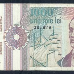 ROMANIA 1000 1.000 LEI 1991 [23] VF, serie fara punct - Bancnota romaneasca