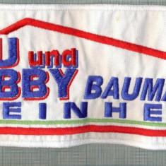 317 -EMBLEMA MARE - BAU UND HOBBY BAUMARKT STEINHEIM-CONSTR -starea care se vede