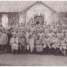 Fotografie Generalul Eremia Grigorescu in fata scolii comunale Grozesti, 1916 - Harta Europei