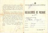 OBLIGATIUNE DE PREDARE RPR, Documente
