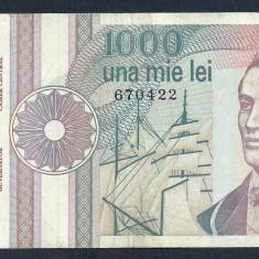 ROMANIA 1000 1.000 LEI 1991 [26] serie fara punct