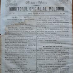 Principatele Unite , Monitorul oficial al Moldovii , Iasi , nr. 49 , 1859